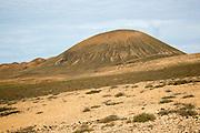 Volcanoes and desert landscape near Tindaya, Fuerteventura, Canary Islands, Spain