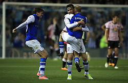Sheffield Wednesday's David Jones celebrates their first goal of the game