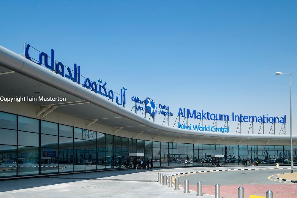 New Al Maktoum International Airport at Dubai World Central district in Dubai United Arab Emirates