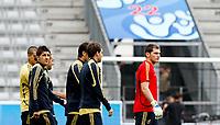 GEPA-0906085528 - INNSBRUCK,AUSTRIA,09.JUN.08 - FUSSBALL - UEFA Europameisterschaft, EURO 2008, Nationalteam Spanien, Abschlusstraining. Bild zeigt David Villa und Iker Casillas (ESP).<br />Foto: GEPA pictures/ Andreas Pranter