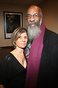 l to r: Jill Newman and Richie Havens backstage at Gil Scott-Heron Produced by Jill Newman Productions and held at BB King on November 4, 2009 in New York City