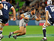 Jack Lam (HUR)<br /> Melbourne Rebels v The Hurricanes<br /> Rugby Union - 2011 Super Rugby<br /> AAMI Park, Melbourne VIC Australia<br /> Friday, 25 March 2011<br /> © Sport the library / Jeff Crow