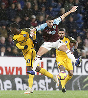 Brighton & Hove Albion's Yves Bissouma vies for possession with Burnley's Ashley Westwood<br /> <br /> Photographer Rich Linley/CameraSport<br /> <br /> The Premier League - Burnley v Brighton and Hove Albion - Saturday 8th December 2018 - Turf Moor - Burnley<br /> <br /> World Copyright © 2018 CameraSport. All rights reserved. 43 Linden Ave. Countesthorpe. Leicester. England. LE8 5PG - Tel: +44 (0) 116 277 4147 - admin@camerasport.com - www.camerasport.com