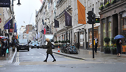 "General view of Old Bond Street, in central London, where Hatton Garden raiders, Terry Perkins, 68, and Daniel Jones, 59, who have been described as ""premier league criminals"", are alleged to have broken into Chatila jewellers on the August bank holiday weekend in 2010."