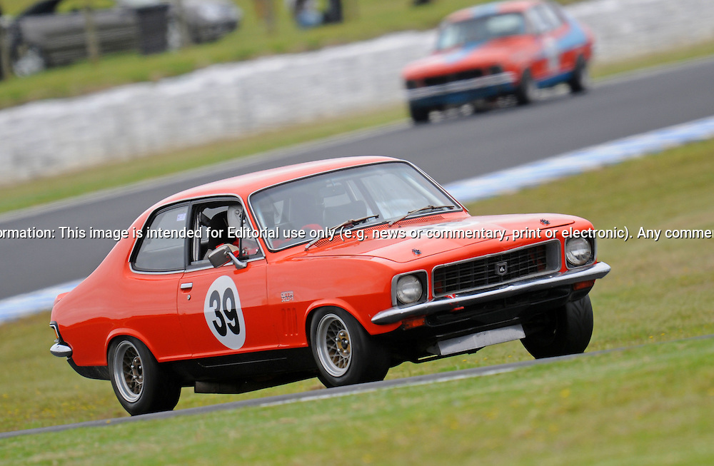 Douglas Growcott - Holden Torana XU1 .Historic Motorsport Racing - Phillip Island Classic.18th March 2011.Phillip Island Racetrack, Phillip Island, Victoria.(C) Joel Strickland Photographics.Use information: This image is intended for Editorial use only (e.g. news or commentary, print or electronic). Any commercial or promotional use requires additional clearance.
