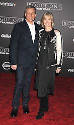 December 10, 2016 - Los Angeles, California, United States - December 10th 2016 - Los Angeles California USA - Executive ROBERT IGER, wife WILLOW BAY  at the World Premiere for ''Rogue One Star Wars'' held at the Pantages Theater, Hollywood, Los Angeles  CA (Credit Image: © Paul Fenton via ZUMA Wire)