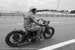The Race of Gentlemen's Bobby Green on a ride around Tokyo with friends of the Freewheelers And Company shop. Tokyo, Japan. December 8, 2015.  Photography ©2015 Michael Lichter.