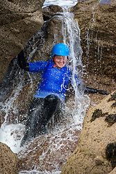 18MAY21 Mollie Hughes. Matt out with Mollie Hughes and Stevie Boyle, Coasteering with Ocean Vertical at Dunbar.