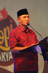 November 2, 2018 - Madiun, East Java, Indonesia - H. Sugeng Rismiyanto, mayor of Madiun delivered a speech while opening the night of the People's Coffee Party in the parking lot of one of the hotels in the city of Madiun. (Credit Image: © Ajun Ally/Pacific Press via ZUMA Wire)
