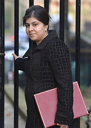 "© under license to London News Pictures. 5th August 2014 Foreign Office minister Baroness Warsi has resigned from the government, saying she can ""no longer support"" its policy on Gaza. FILE PICTURE DATED  05/02/2013. Westminster, UK Baroness Warsi Cabinet Ministers arrive for the weekly Cabinet meeting on 5th February 2013. Photo credit : Stephen Simpson/LNP"