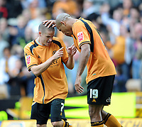 Fotball<br /> England<br /> Foto: Fotosports/Digitalsport<br /> NORWAY ONLY<br /> <br /> 18.10.2008<br /> Wolverhampton v Coventry 2-1<br /> <br /> Molineux Wolverhampton  Championship 18/10/2008<br /> Michael Kightly (Wolves) celebrates  equaliser