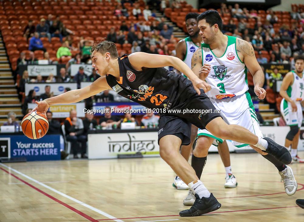 Hawkes Bay's Hyrum Harris. Bay Hawks v Jets, Sals NBL Basketball, PG Arena, Napier, New Zealand. Sunday, 22 July, 2018. Copyright photo: John Cowpland / www.photosport.nz