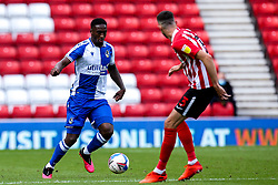 Brandon Hanlan of Bristol Rovers takes on Tom Flanagan of Sunderland - Mandatory by-line: Robbie Stephenson/JMP - 12/09/2020 - FOOTBALL - Stadium of Light - Sunderland, England - Sunderland v Bristol Rovers - Sky Bet League One