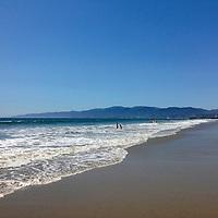 USA, California, Los Angeles. Santa Monica Beach in Los Angeles.