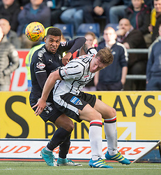 Falkirk's Nathan Austin and Dunfermline's Lee Ashcroft. Falkirk 2 v 0 Dunfermline, Scottish Challenge Cup played 7/9/2017 at The Falkirk Stadium.