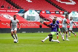 Famara Diedhiou of Bristol City shoots - Rogan/JMP - 29/08/2020 - Ashton Gate Stadium - Bristol, England - Bristol City v Swindon Town - Pre Season Friendly.