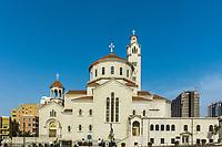 Saint Elias and Saint Gregory the Illuminator Armenian Catholic Cathedral in Beirut capital city of Lebanon Middle east