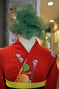 mannequin without a head wearing a kimono