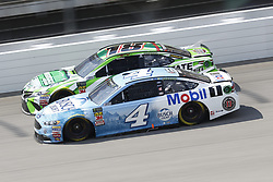 August 12, 2018 - Brooklyn, Michigan, United States of America - Kevin Harvick (4) and Kyle Busch (18) battle for position during the Consumers Energy 400 at Michigan International Speedway in Brooklyn, Michigan. (Credit Image: © Chris Owens Asp Inc/ASP via ZUMA Wire)