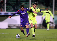FOOTBALL - CHAMPIONS LEAGUE 2008/2009 - GROUP STAGE - GROUP F - 25/11/2008 - ACF FIORENTINA v OLYMPIQUE LYONNAIS -<br /> <br /> ADRIAN MUTU (FIO) / JUNINHO (OL)<br /> <br /> Fiorentina - Lyon<br /> <br /> Norway only