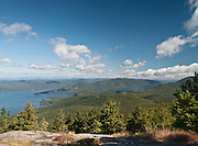"""Lake George, Adirondacks, NY.<br /> How many places are described as """"jewels"""" of the Adirondacks?  Well, it turns out a lot of them.  But Lake George is certainly one, and if you climb Buck Mountain on the east side of the lake, you'll be rewarded with fine views.  Here, the Tongue Mountain ridge dominates the west side, squeezing the lake into an area called The Narrows, that is populated with over 40 islands, before it opens up again in the north."""