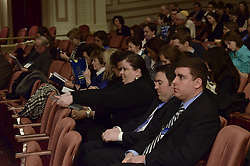 Yale SOM Education Leadership Conference. Friday Morning Keynote Speakers, Providence, RI Mayor Angel Taveras and Louisiana State Superintendent John White. 5 April 2013. Audience.