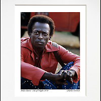"""Miles Davis - An affordable archival quality matted print ready for framing at home.<br />  Ideal as a gift or for collectors to cherish, printed on Fuji Crystal Archive photographic paper set in a neutral mat (all mounting materials are acid free conservation grade). <br />  The image (approx 6""""x8"""") sits within a titled border. The outer dimensions of the mat are approx 10""""x12""""."""