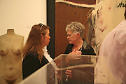 LEFT: FRANCOISE-JANE STUART AND ? Celebrating George Melly at 80: Aspects of his Collection. The Mayor Gallery. Cork St. London. 17 August 2006. ONE TIME USE ONLY - DO NOT ARCHIVE  © Copyright Photograph by Dafydd Jones 66 Stockwell Park Rd. London SW9 0DA Tel 020 7733 0108 www.dafjones.com