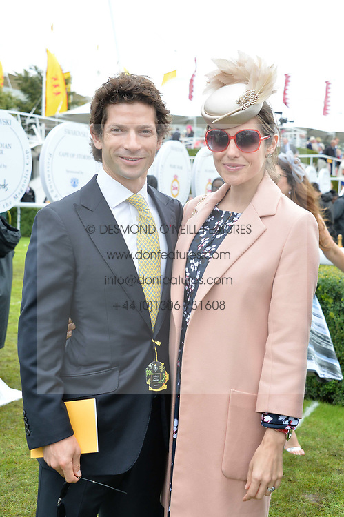 Sam Waley-Cohen and Bella Waley-Cohen at the Qatar Goodwood Festival, Goodwood, West Sussex England. 3 August 2017.<br /> Photo by Dominic O'Neill/SilverHub 0203 174 1069 sales@silverhubmedia.com