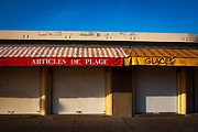 Closed shops, Les Planches , Deauville, Normandy, France