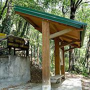 Ingresso dell'Osservatorio Ornitologico sul Monte Barro..Entrance of the Ornithological observatory of Monte Barro