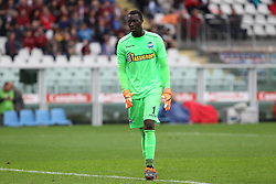 May 13, 2018 - Turin, Piedmont, Italy - Alfred Gomis (S.P.A.L. ) during the Serie A football match between Torino FC and S.P.A.L. at Olympic Grande Torino Stadium on May 13, 2018 in Turin, Italy. (Credit Image: © Massimiliano Ferraro/NurPhoto via ZUMA Press)