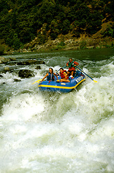 California: Redwood Country.  Rafting on the Trinity River..Photo copyright Lee Foster, 510/549-2202, lee@fostertravel.com, www.fostertravel.com..Photo #: caredw102
