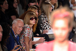 Anna Wintour at the Donna Karan show at  New York Fashion Week, Monday, 10th  September 2012. Photo by: Stephen Lock / i-Images