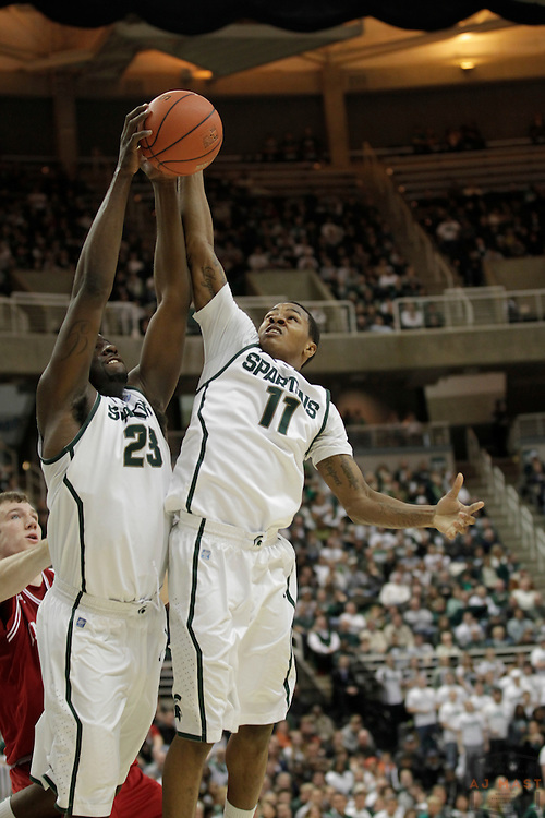 30 January 2011: Michigan State Spartans guard Keith Appling (11) as the Indiana Hoosiers played the Michigan State Spartans in a college basketball game in East Lansing, Mich.