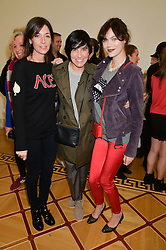 Left to right, MARY McCARTNEY, SHARLEEN SPITERI and JASMINE GUINNESS at a private view of Chris Stein/Negative: Me, Blondie And The Advent Of Punk, held at Somerset House, The Strand, London on 5th November 2014.