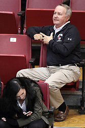 23 October 2015:  Dave Collee - far right during an NCAA women's volleyball match between the Wichita State Shockers and the Illinois State Redbirds at Redbird Arena in Normal IL (Photo by Alan Look)