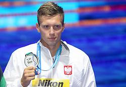 July 26, 2017 - Budapest, Hungary - Wojciech Wojdak (POL) wins the Bronze medal on Men's 800 m Freestyle during the 17th FINA World Championships, at Duna Arena, in Budapest, Hungary, Day 13, on July 26th, 2017. (Credit Image: © Foto Olimpik/NurPhoto via ZUMA Press)