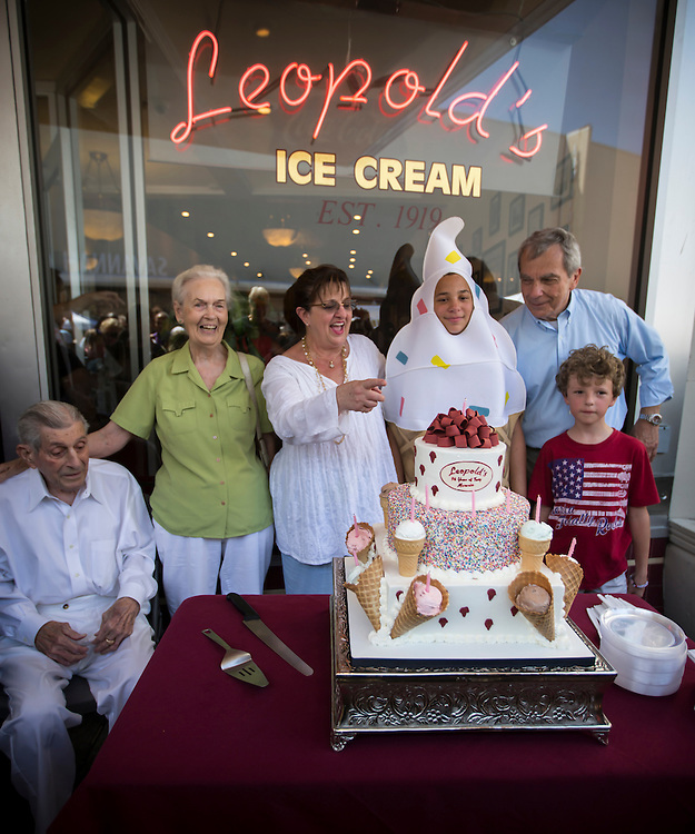 SAVANNAH, GA - AUGUST 15, 2015: Leopold's Icecream celebrates it's 96th birthday with a block party, Saturday, Aug, 15, 2015, in Savannah, Ga. (Photo by Stephen B. Morton)