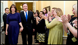 The Prime Minister David Cameron with his wife Samantha arrive in No 10  Downing Street for the first time after being asked by the Queen to form a new Government, Tuesday May 11, 2010. Photo By Andrew Parsons