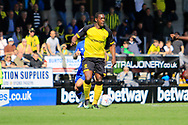 Burton Albion striker Marvin Sordell (17) during the EFL Sky Bet Championship match between Burton Albion and Cardiff City at the Pirelli Stadium, Burton upon Trent, England on 5 August 2017. Photo by Richard Holmes.