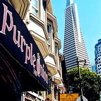 Purple Onion and Transamerica Pyramid