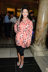 HELEN DAVID at the opening of Club To Catwalk: London Fashion In The 1980's an exhibition at The V&A Museum, London on 8th July 2013.
