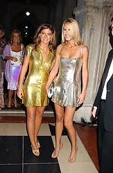 Left to right, FRANCESCA VERSACE and PETRINA KHASHOGGI at Andy & Patti Wong's annual Chinese New Year party, this year celebrating the year of the dog held at The Royal Courts of Justice, The Strand, London WC2 on 28th January 2006.<br /><br />NON EXCLUSIVE - WORLD RIGHTS