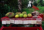 Fruit stand, Hana coast. Maui, Hawaii<br />