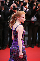 Actress Jessica Chastain at the All Is Lost film gala screening at the Cannes Film Festival Wednesday 22nd May 2013