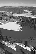 Shadow Patterns, Crystal Lake and Indian Valley from Mt Hugh, Plumas National Forest, Sierra Nevada Mountains, 2013 by David Leland Hyde.