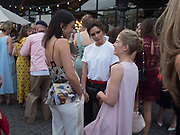 EMILY SHEFFIELD; VICTORIA BECKHAM; ROSAMUND PIKE, Alex Shulman goodbye party. Dock Kitchen, Ladbroke Grove. London. 22 June 2017