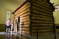 Abe Lincoln's Log Cabin, Abraham Lincoln Birthplace National Historic Site, Hodgenville, Kentucky
