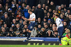 December 23, 2018 - Liverpool, Liverpool, United Kingdom - Tottenham Hotspur's Harry Kane celebrates scoring his side's third goal of the game during the Premier League match at Goodison Park, Liverpool, UK.  Everton v Tottenham Hotspur - Premier League - Goodison Park. Goodison Park. (Credit Image: © Anthony Devlin/i-Images via ZUMA Press)